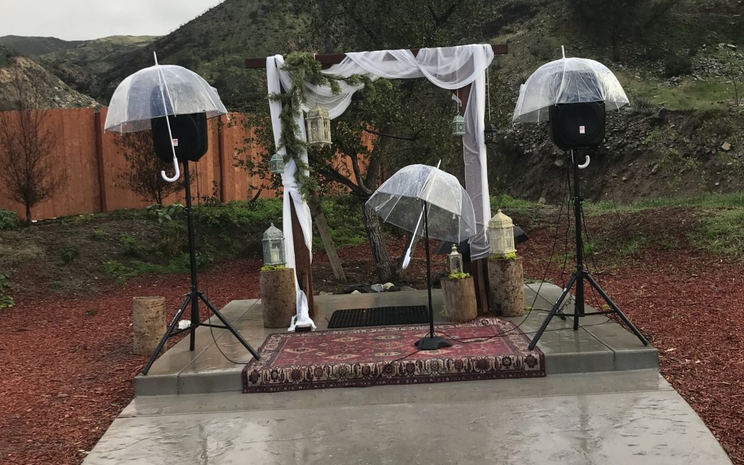 Rain forecasted on your wedding day? No problem…